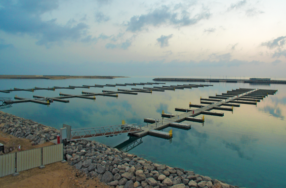 New Delma Commercial Port Pontoon System in the UAE
